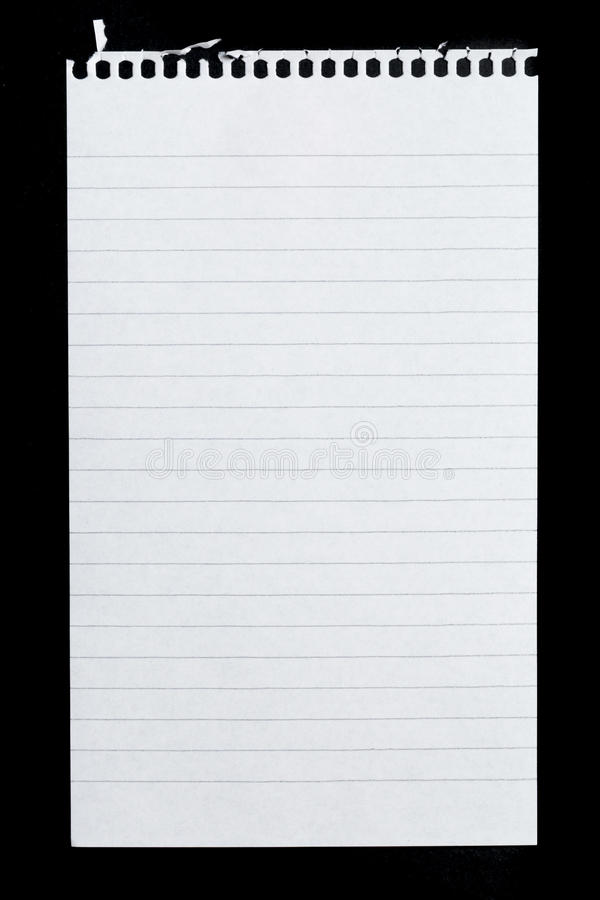 Page de bloc-notes photographie stock libre de droits