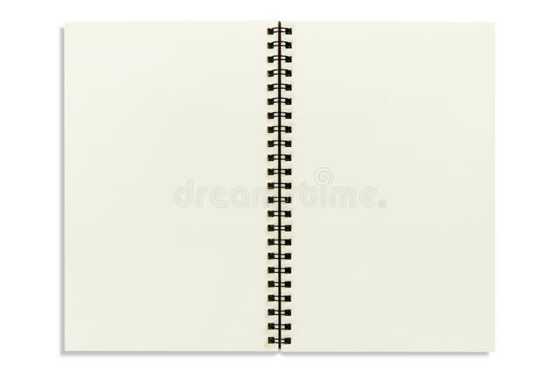 Page de bloc-notes sur le blanc d'isolement photographie stock
