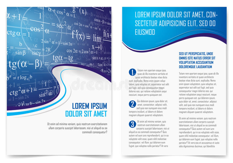 Page de brochure illustration de vecteur