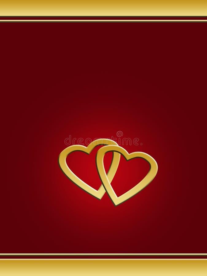 Page de cache - jour de Valentines illustration stock
