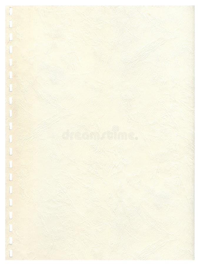 page de cahier du fond LD à image stock