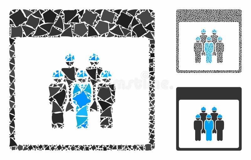 Page de calendrier du personnel Composition Icône des articles de retouches illustration libre de droits