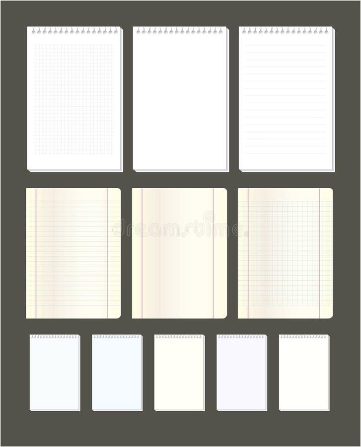 Page de carnet photographie stock