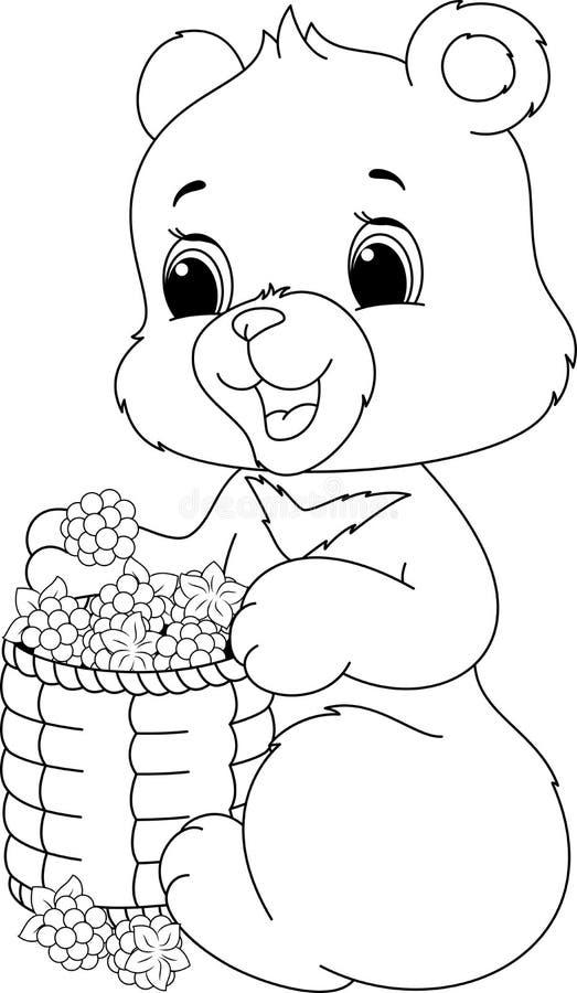 Page de coloration d'ours illustration de vecteur
