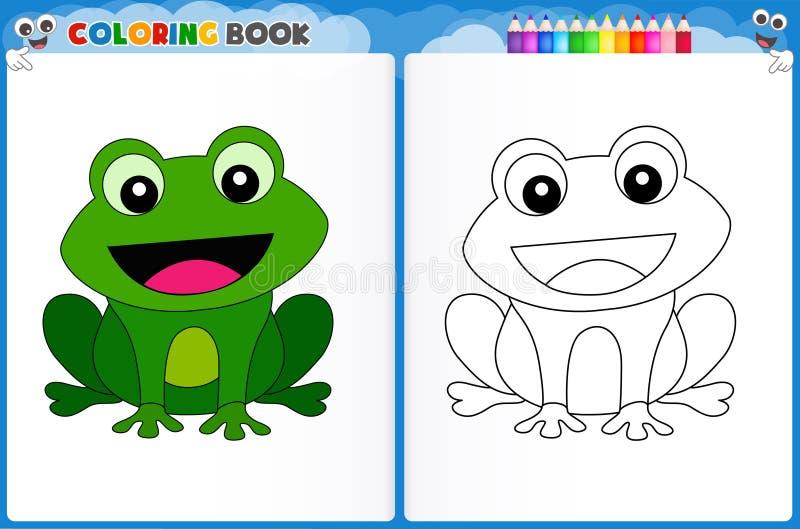 Page de coloration de grenouille illustration libre de droits