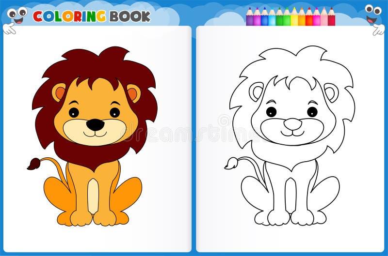 Page de coloration de lion illustration libre de droits