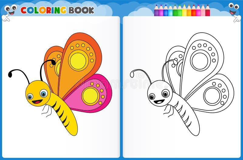 Page de coloration de papillon illustration stock