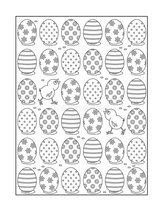 Page de coloration pour des adultes et des enfants, ou fond ornemental noir et blanc illustration stock