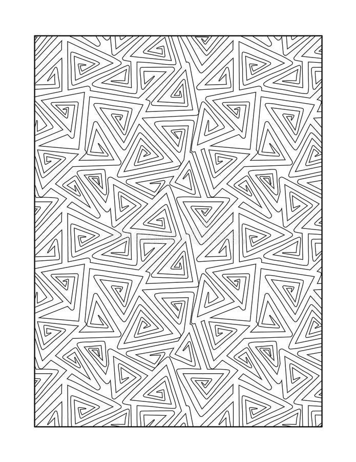 Page de coloration pour des adultes, ou fond ornemental noir et blanc illustration libre de droits