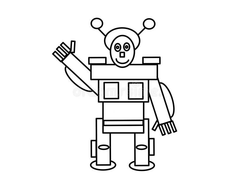 Page de haute qualité de coloration de robot illustration libre de droits