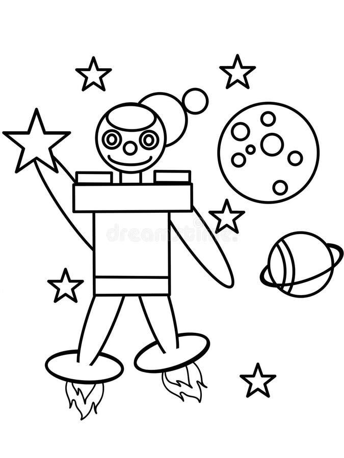 Page de haute qualité de coloration de robot illustration stock