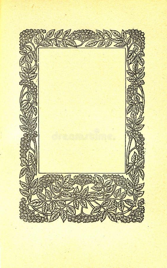 Page de livre de cru illustration stock