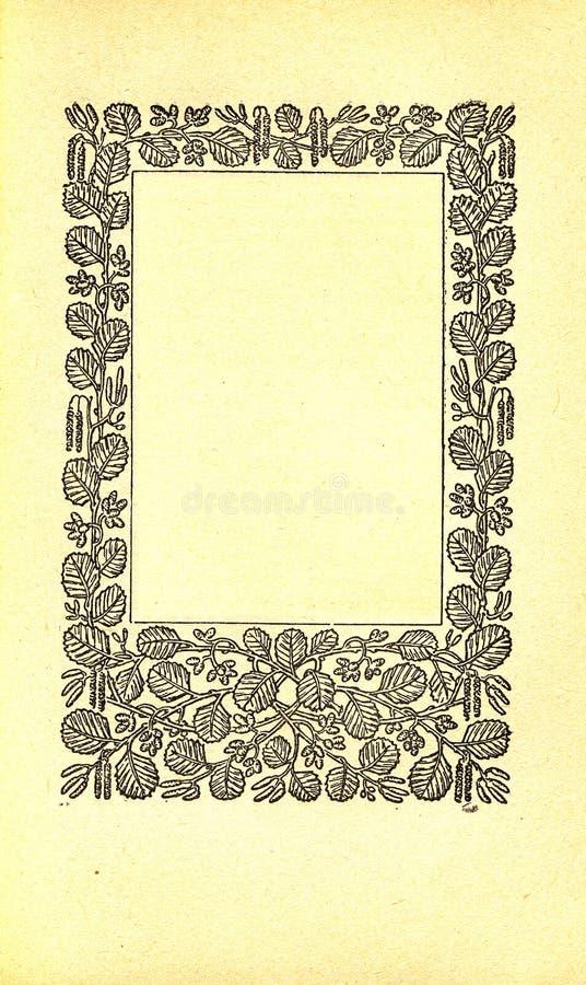 Page de livre de cru illustration de vecteur