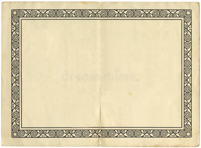 Page de livre de cru avec une illustration illustration stock