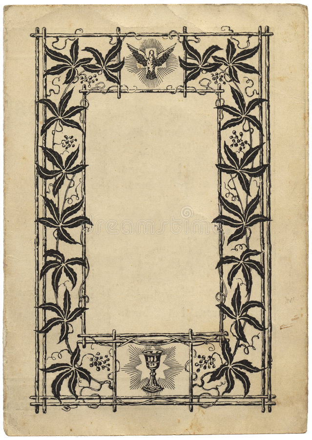 Page de livre de cru avec une trame illustration stock