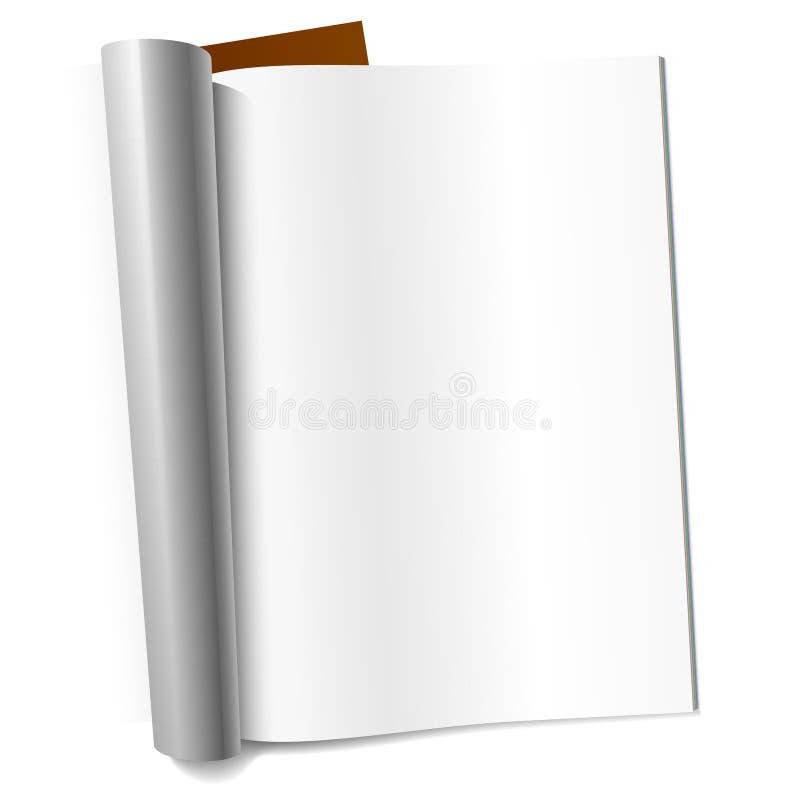 page de magazine blanc illustration de vecteur