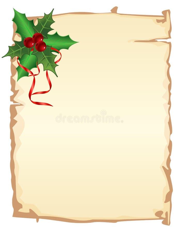 Page de Noël illustration libre de droits