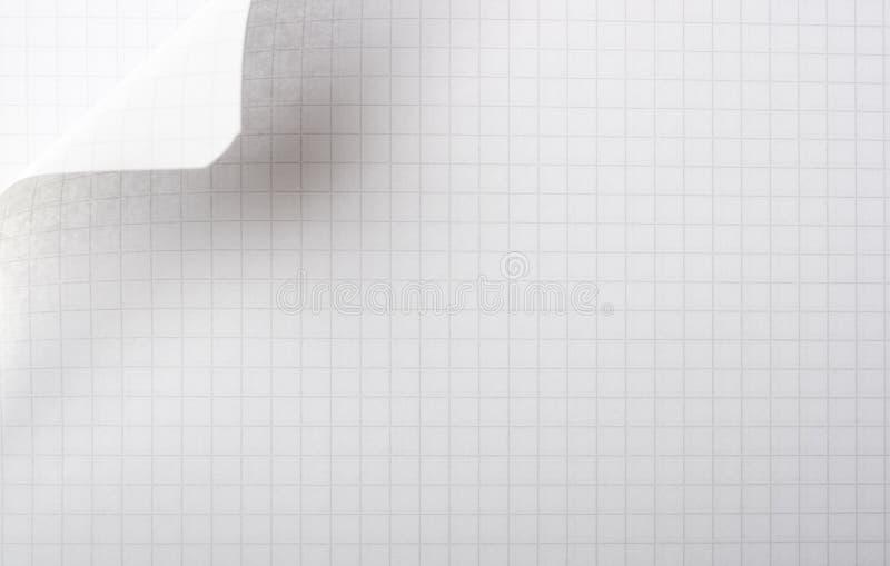 Page de papier avec la boucle image libre de droits