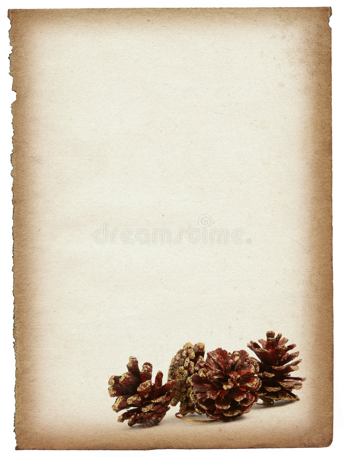 Page de papier avec les cônes décoratifs illustration stock