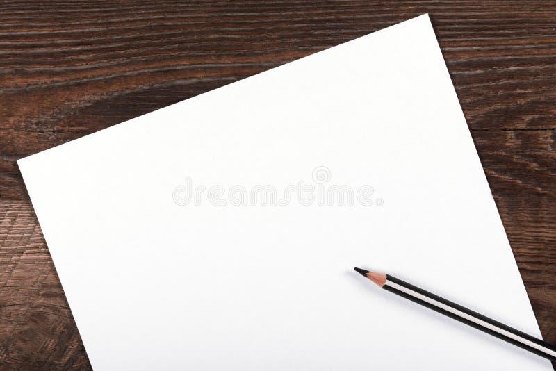 Page de papier blanche photo libre de droits
