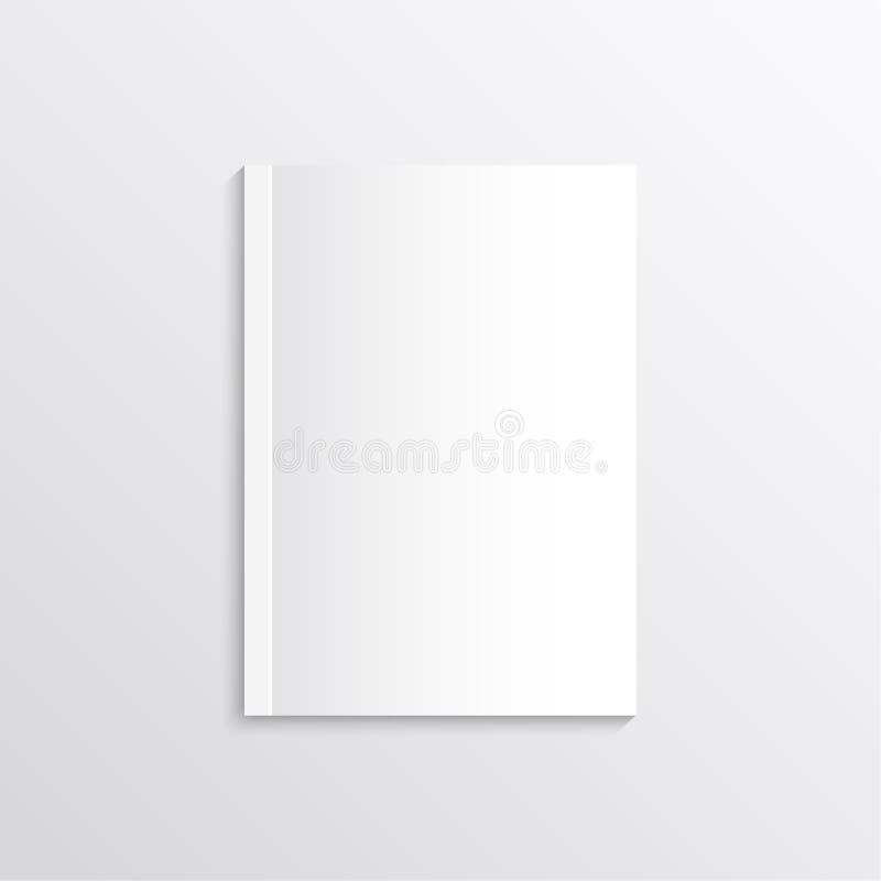 Page de papier blanche, couvertures de magazine, cartes postales illustration libre de droits