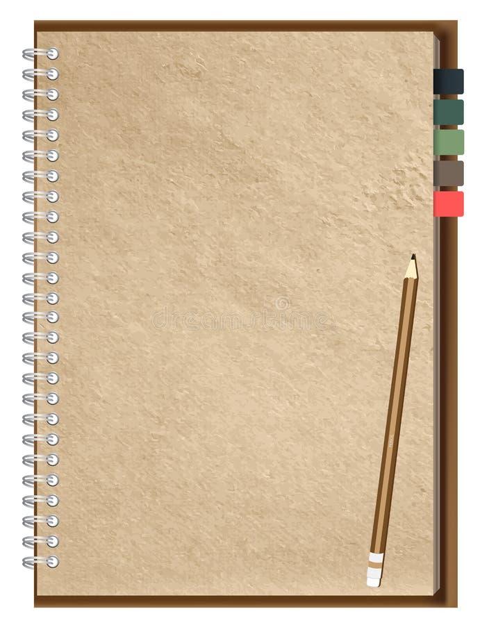 Page de papier de droite de cahier de vecteur illustration stock
