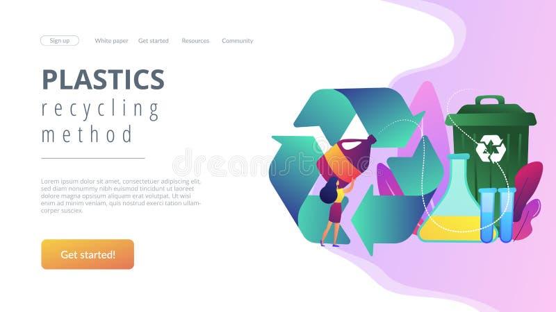 Page de réutilisation chimique d'atterrissage de concept illustration stock