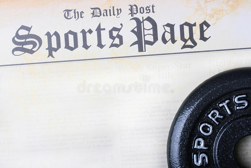 Page de sports photos stock