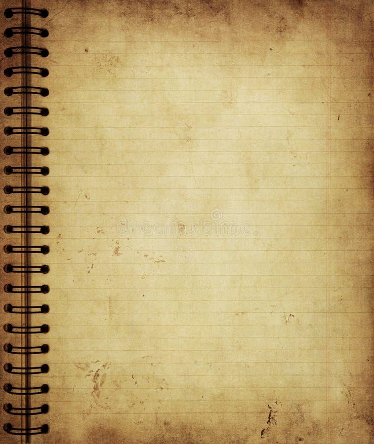 Page de vieux cahier grunge illustration de vecteur