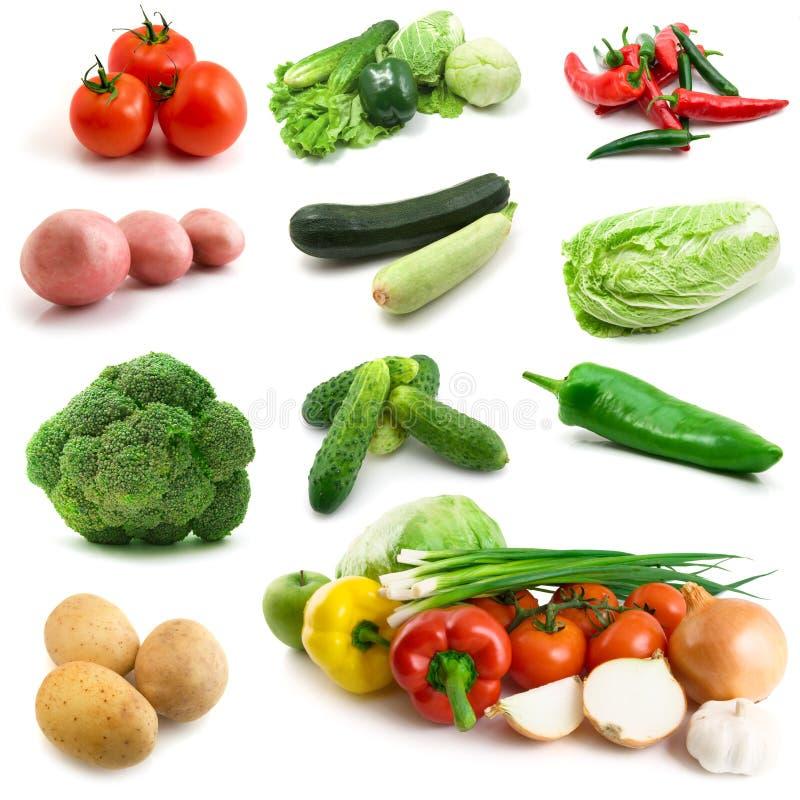Page des légumes d'isolement sur le blanc photos libres de droits