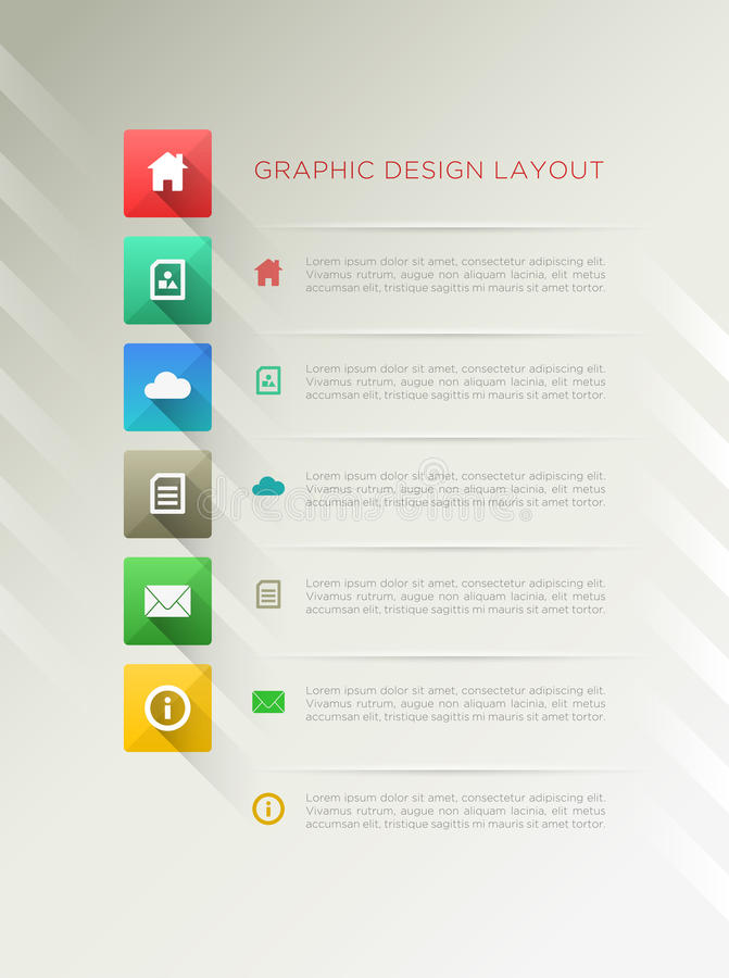 Page Design Layout Stock Image