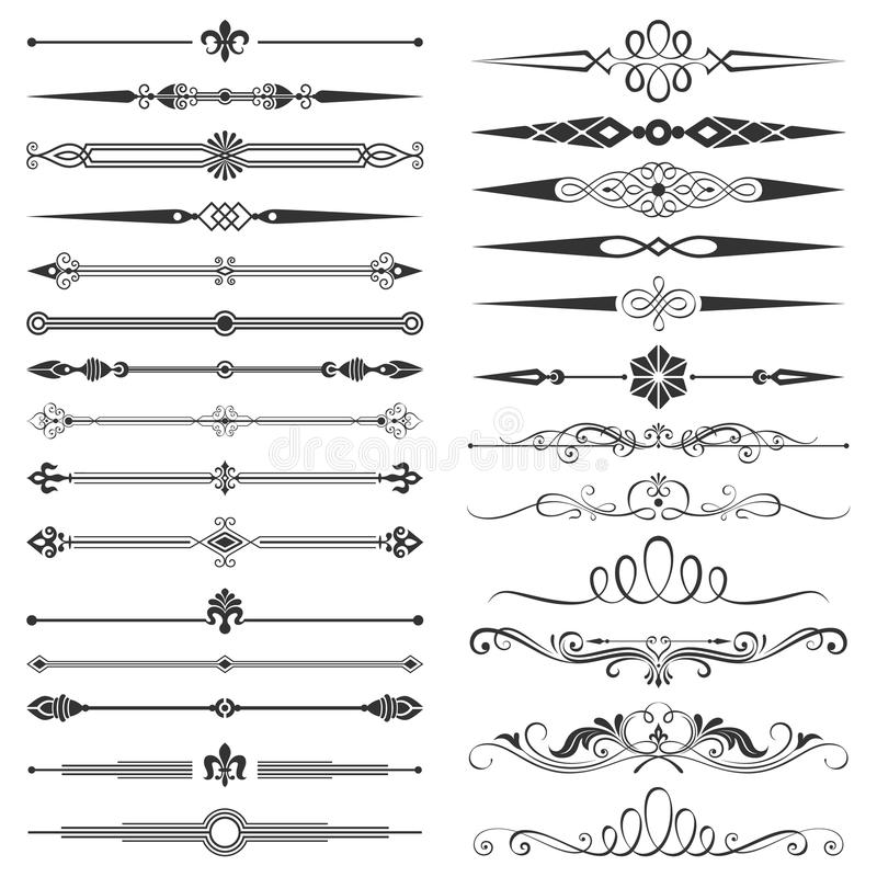 Free Page Divider And Design Elements Set Stock Photos - 63480383