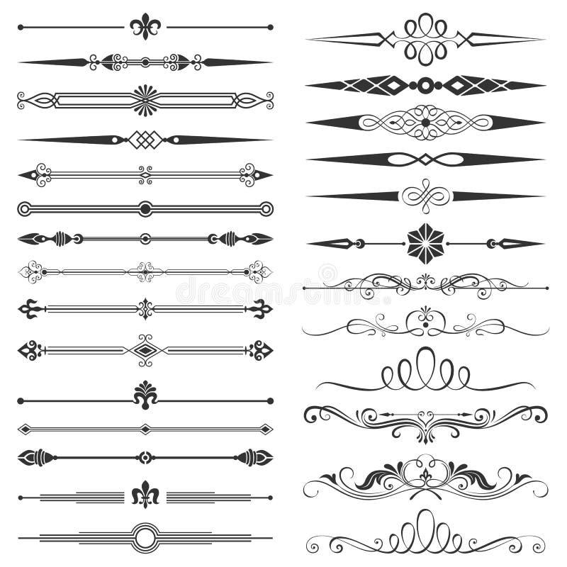 Page Divider And Design Elements Set vector illustration