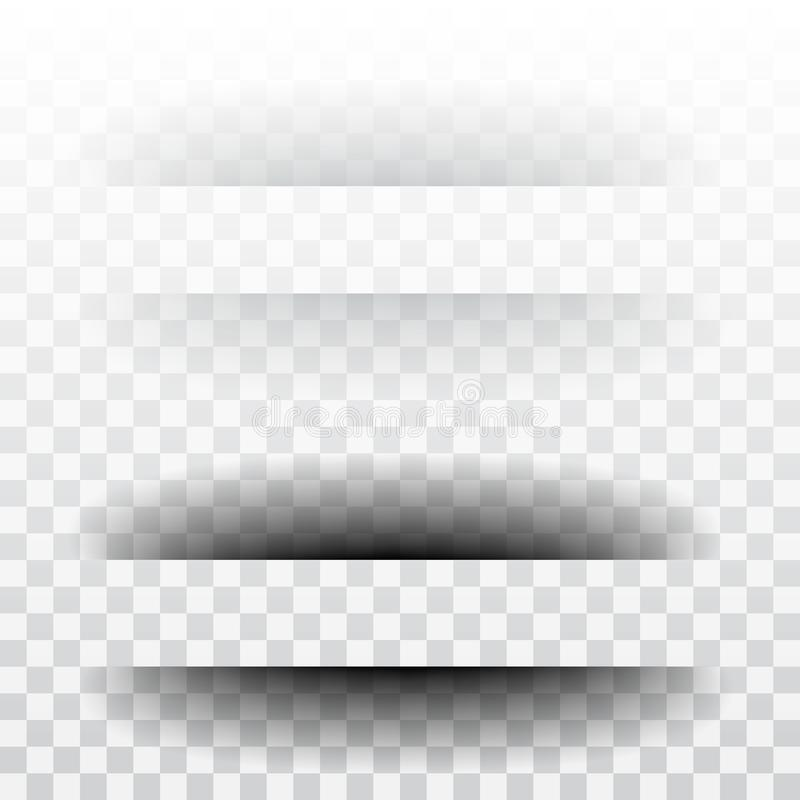 Page divider with transparent shadows isolated. Pages separation vector set. vector illustration