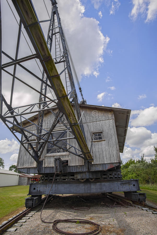 1920 Page dragline. A 1920 Page dragline at a coal mine museum in Kansas USA royalty free stock images