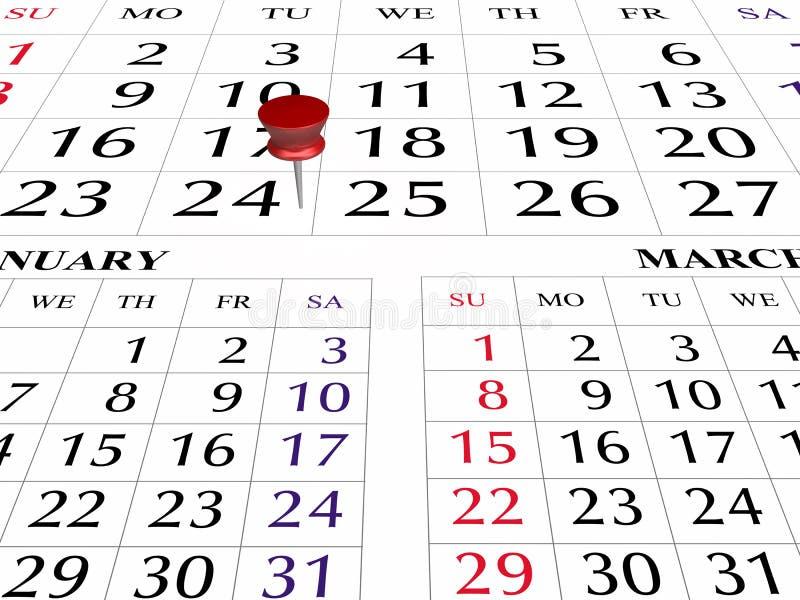 Page du calendrier 2009 photo libre de droits