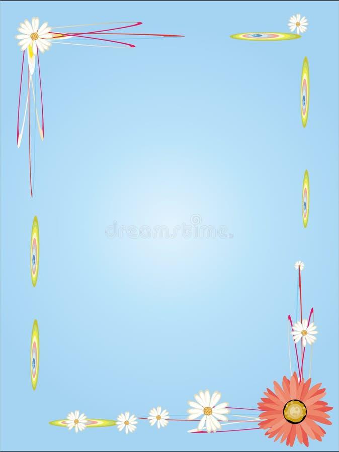 page emtpy de trame de fleur illustration libre de droits