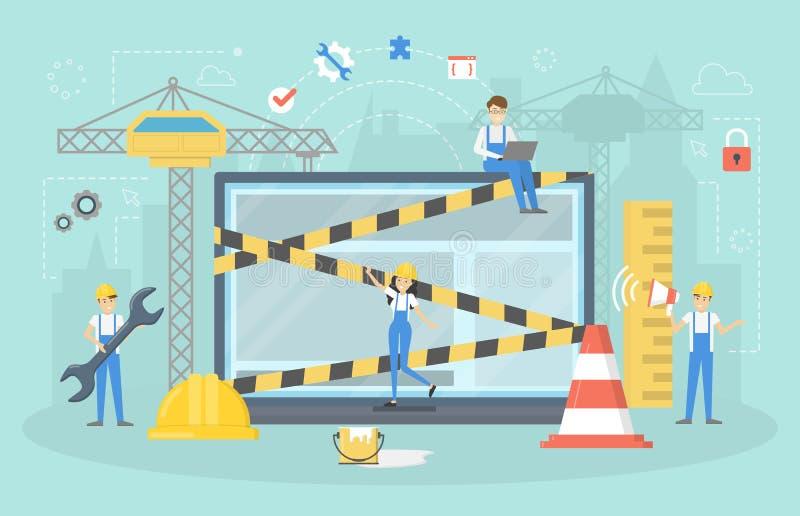 Page en construction de site Web Travail en cours illustration libre de droits