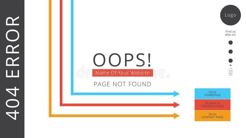 Page en construction pour un site Web prochain illustration libre de droits