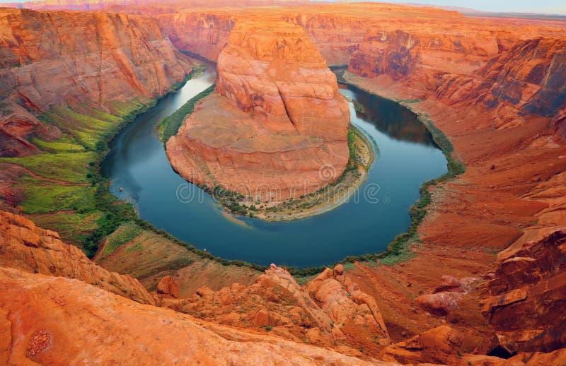 Page en fer à cheval Arizona Etats-Unis de courbure image stock