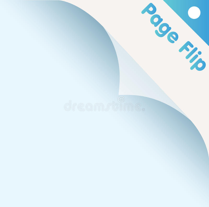 Page flip. Turning the page,vector illustration stock illustration