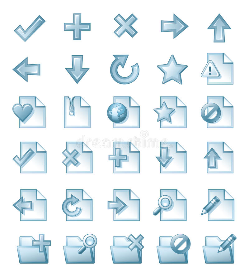 Download Page icons stock photo. Image of star, directions, badge - 21065454