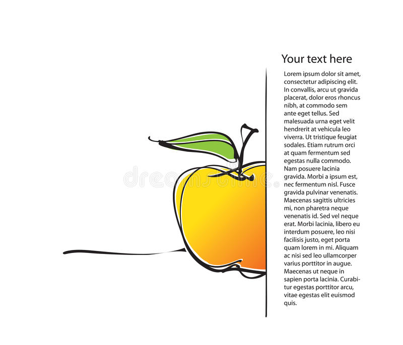 Download Page Layout With Apple Icon, Freehand Drawing Stock Vector - Image: 19703398