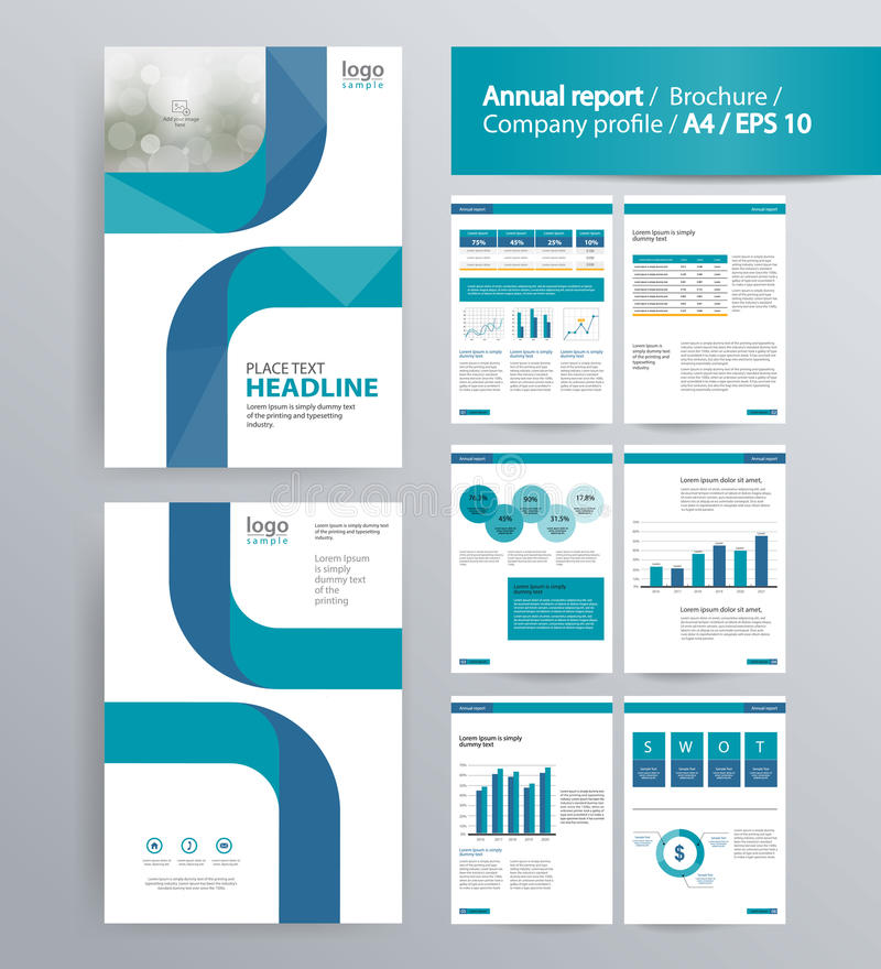 Page layout for company profile, annual report, and brochure template. vector illustration