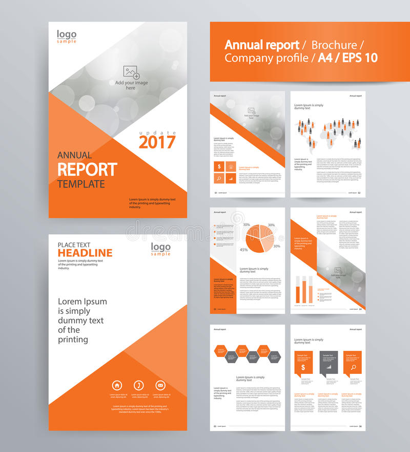 Page Layout For Company Profile Annual Report And Brochure