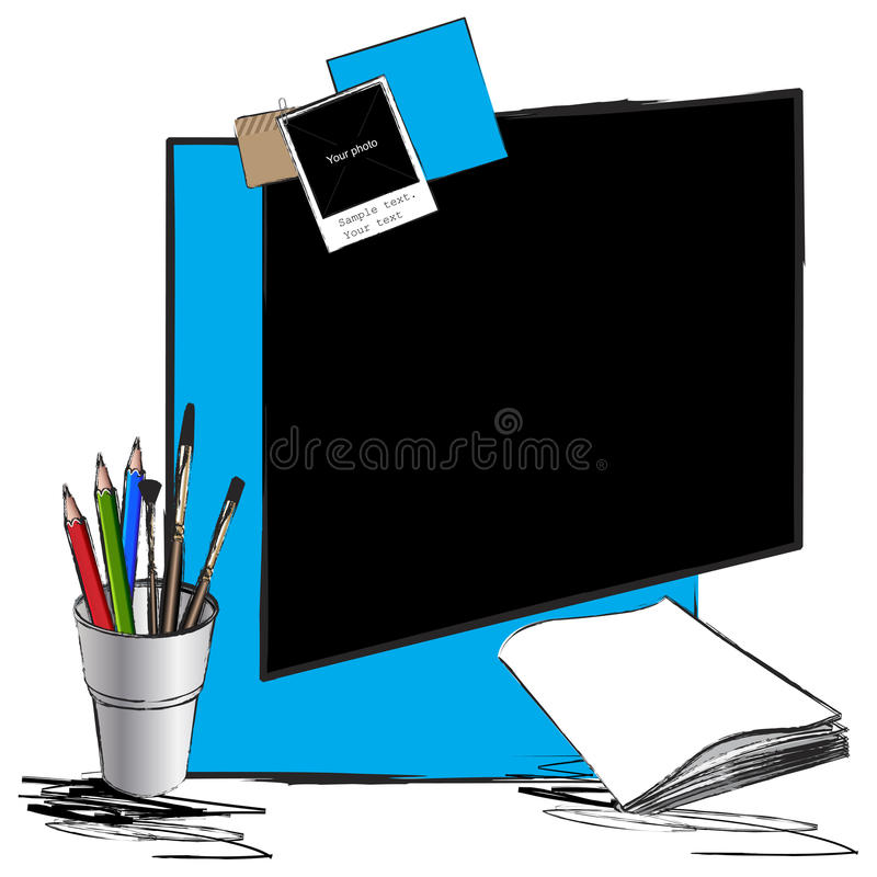 Download Page Layout With Pencils, Office Copy Paper Stock Illustration - Image: 23549151