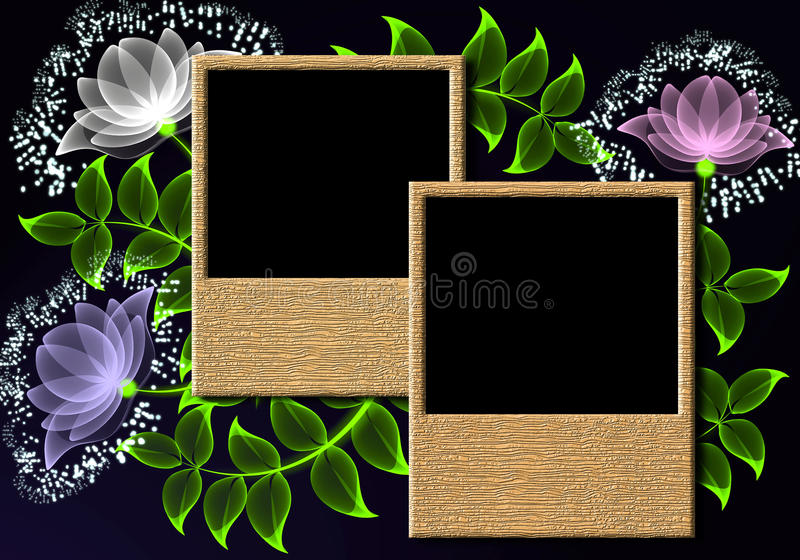 Page layout photo album vector illustration