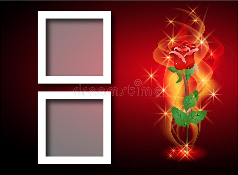 Page layout photo album royalty free illustration