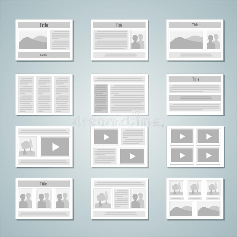 Page Layout Template Set Stock Vector  Image Of Book