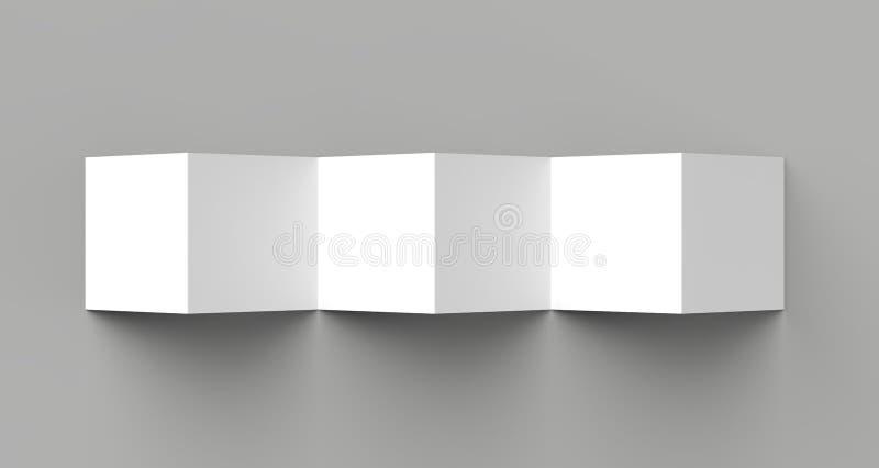 12 page leaflet, 6 panel accordion fold - Z fold square brochure vector illustration